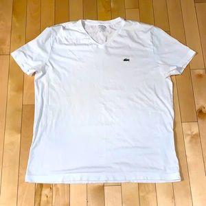 Lacoste white t-shirt Size L